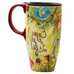 CEDAR HOME Coffee Ceramic Mug Porcelain Latte Tea Cup With L