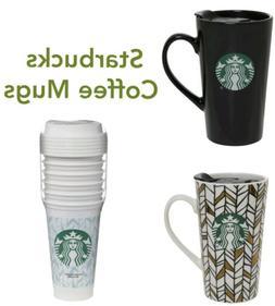 Starbucks Coffee Ceramic Tumbler Latte Travel Mug Cup Lid 14