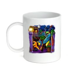 Coffee Cup Travel Mug 11 15 Oz Parakeets Jazz Music Musician