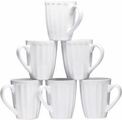 Bruntmor Ceramic Coffee Cups Mugs Set of 6 Large-sized 16 Oz