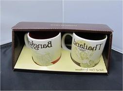 New Starbucks Coffee Set of 2 Demitasse Espresso Cups City C