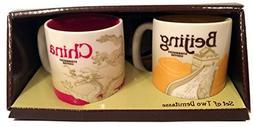 New Starbucks Coffee Set of 2 Demitasse Mugs City Collector