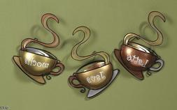Coffee House Cup Mug Latte Java Mocha Metal Wall Art Home De