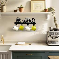 Coffee Decor Kitchen Wall Decor Coffee Bar Mug Cup Rack Hold