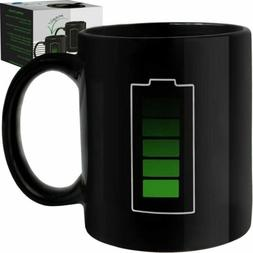 Coffee Magic Mug Color Changing Heat Sensitive Fun Battery M