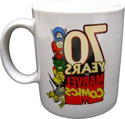 Coffee Mug - 70 Years of Marvel Comics Cup Superhero Avenger