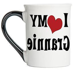 Tumbleweed Coffee Mug - I Love My Grannie- Large 18 Oz. Cera