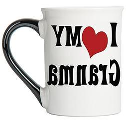Tumbleweed Coffee Mug - I Love My Granma- Large 18 Oz. Ceram