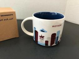 Starbucks coffee mug Boston Massachusetts you are here 14oz
