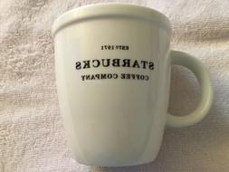 Starbucks Coffee Mug Cup 2006 Barista Abbey White Black 18oz