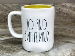 Rae Dunn Coffee Mug Cup Of Sunshine Yellow Inside. Large 20
