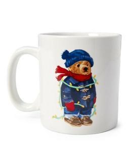 coffee mug cup winter holiday polo bear