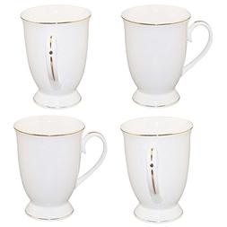 Coffee Mug Set of 4 Large Funny Mug 11oz Gold Edge New Bone