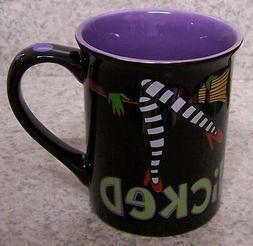 Coffee Mug Halloween Wicked Witch Flying Monkeys NEW 16 oz c