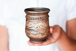 Coffee mug No handle cup Rustic pottery Handmade Gift for mo