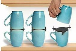 Coffee Mug Organizers And Storage, Kitchen Cabinet Shelf Cup