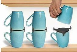 Coffee Mug Organizers And Storage, Kitchen Cabinet Shelf Cup