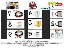 Coffee mug personalized Custom Photo Text Logo Name PrintedG