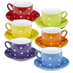 Klikel Coffee Mug And Saucer Set – 12 Piece Porcelain Dinn