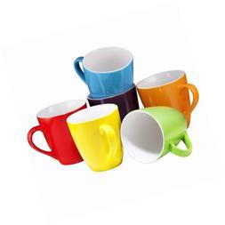 Coffee Mug Set of 6 Large-sized 16 Ounce Ceramic Mugs Restau