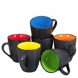 Bruntmor Coffee Mug Set Set of 6 Large-sized 16 Ounce Cerami