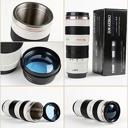 Coffee Mugs,Camera Lens Coffee Mug/Cup With Lid,Photo Coffee