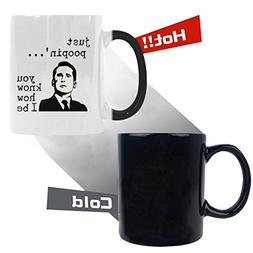 WECE Coffee Mugs Just Poopin' You Know How I Be Funny Heat R