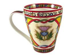 The Scottish Thistle Tea Coffee Mug Celtic Weave Bone China