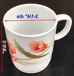 "Coffee Tea Mugs Cups Melamine Melmac Plastic 3-1/4"" dia X 3-"