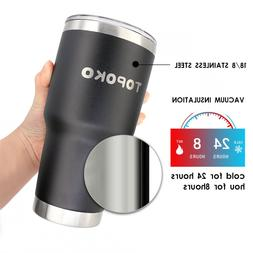 Coffee Tumbler Insulated Mug, Stainless Steel, Leak & Spill