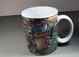 "Lang & Wise Collector Cup Mug ""Happy Life"" 2000 Bird Bluebir"