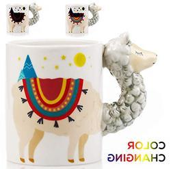 Color Changing Llama Mug - 3D Ceramic Lama Coffee Mugs. Nove