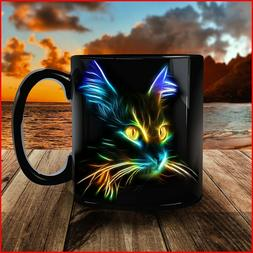 Black Mug Cat Lover - Inspirational Mug - Coffee Mug Tea Cup