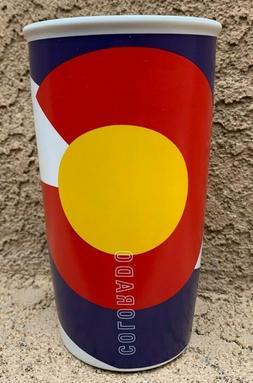 Starbucks Colorado Flag Double Wall Ceramic Traveler Coffee