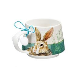 Cypress Home Colorful Cotton-Tail Rabbit Easter Time Ceramic