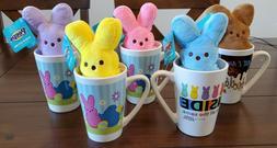 Colorful Peeps Plush in a Latte Mug