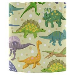 InterestPrint 11oz Colorful Polka Dot with Dinosaur Morphing