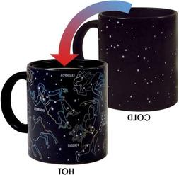 Constellation Heat Changing Coffee Ceramic Mug Holds 10 oz.