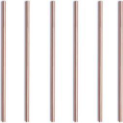 Copper straws – mini 5,5' size – set of 6 solid 100 %