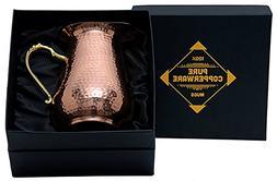 100% Pure Copperware Mugs Copper Jug Pure Water Pitcher - Pr