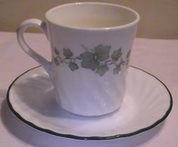 Corning Corelle Callaway Ivy Mugs & Saucers - Set of 4 Ea.