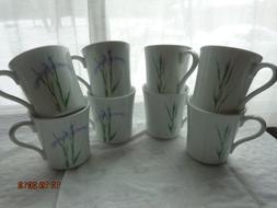 Corelle Corning Shadow Iris 8 Oz Mugs / Cups Set of 8