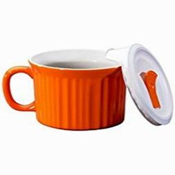 Corningware 20-Ounce Oven Safe Meal Mug with Vented Lid, Car