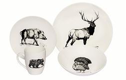 Melange Coupe 16-Piece Porcelain Dinnerware Set  | Service f