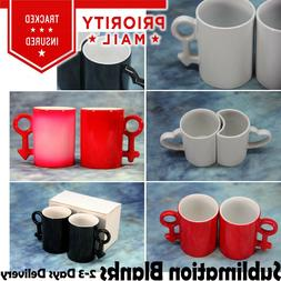 Couples Blank Sublimation Mugs with Box Solid & Magic Mugs 2