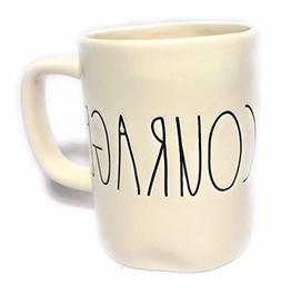 Rae Dunn COURAGE Ceramic Coffee Mug by Magenta