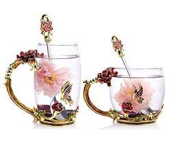 Bestbling Creative Decoration Enamel Flower Crystal Clear Gl