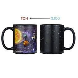 KYONNE Creative Porcelain Mug, The Solar System Heat Changin