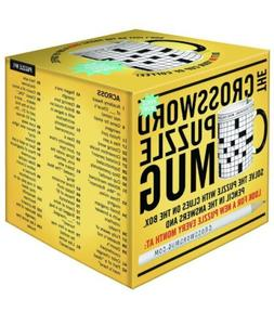 crossword puzzle mug 12 ounce new