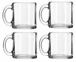 Libbey Crystal Coffee Mug Warm Beverage Mugs Set of 4